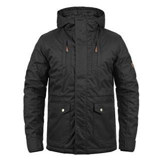 !Solid Bellippo Herren Übergangsjacke Herrenjacke Jacke Mit Kapuze, Größe:L, Farbe:Black (9000)