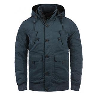 !Solid Davio Herren Übergangsjacke Herrenjacke Jacke Mit Kapuze, Größe:L, Farbe:Insignia Blue (1991)