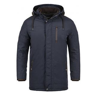 SOLID Dempsey Herren Parka lange Winterjacke Mantel mit Kapuze aus hochwertiger Materialqualität, Größe:XXL, Farbe:Insignia Blue (1991)