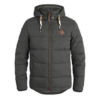 SOLID Dry Herren Jacke Kapuzenjacke Steppjacke aus hochwertiger Materialqualität, Größe:L, Farbe:Dark Grey (2890)