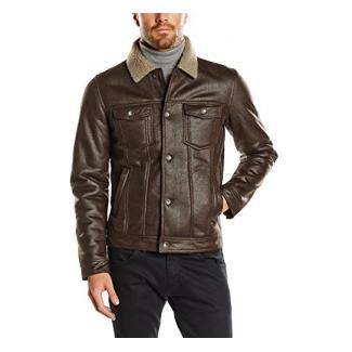 Solid Herren Jeansjacke Jacke Jacket - Solan, Gr. Small, Braun (COGNAC 5048)