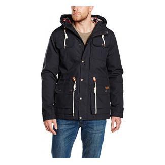 Solid Herren Parka Jacke Jacket - Pisanio, Gr. Large, Schwarz (BLACK 9000)