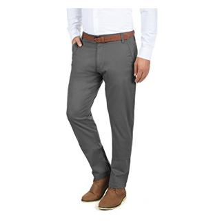 !Solid Machico Herren Chino Hose Stoffhose Mit Gürtel Aus Stretch-Material Regular Fit , Größe:W32/32, Farbe:Dark Grey (2890)