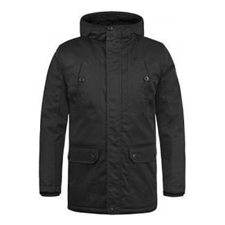 SOLID Walli Herren Parka Winterjacke mit Kapuze aus hochwertiger Baumwollmischung, Größe:XXL, Farbe:Black (9000)