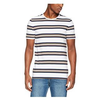 Strellson Premium Herren T-Shirt 11 J-Bergen-R 10004850, Mehrfarbig (Weiß-Blau-Braun 412), Medium (Herstellergröße: M)