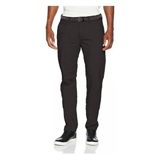 TOM TAILOR Herren Hose Travis Casual Chino w/ Belt Grau (Black 2999), W38/L32