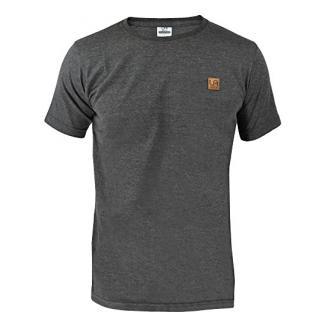urban air StyleFit | T-Shirt Basic | Herren | Sport und Freizeit | 95% Baumwolle, Leder-Patch, Kurzarm | Weiß, Schwarz, oder Hell/Dunkel Grau | S, M, L, XL (L, O-Neck Dunkel Grau)